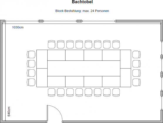 Bachtobel Room (54m², up to 50 people)
