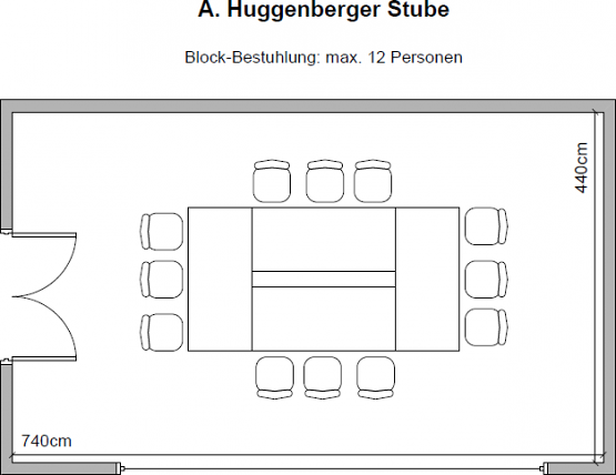 Huggenberger-Stube (33m², up to 36 people)